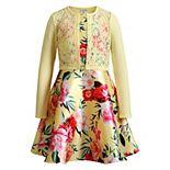 Girls 7-16 Emily West Floral Dress & Lace Cardigan Set