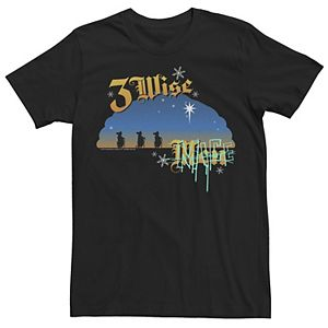 Men's Shrek 3 Wise Mice Sunset Holiday Text Poster Graphic Tee