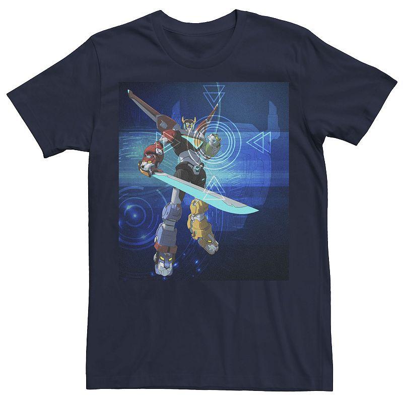 Men's Voltron Legendary Defender Target Portrait Graphic Tee. Size: Small. Blue