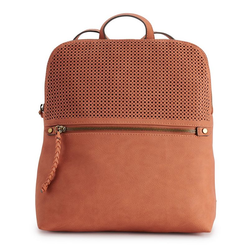 Sonoma Goods For Life Riley Perforated Backpack, Drk Orange