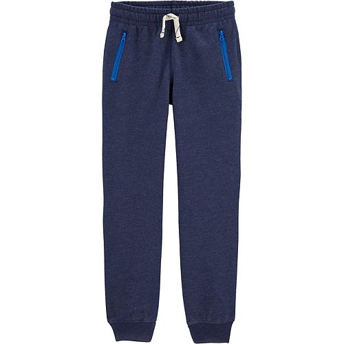 Carters Pull-on Fleece Joggers Pants with Drawstring Navy-Navy