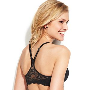 07112 Maidenform One Fab Fit Extra Coverage Lace T-Back Bra