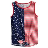 Girls 4-12 Jumping Beans® Knot-Front Tank Top