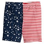 Girls 4-12 Jumping Beans® Stars & Stripes Bike Shorts