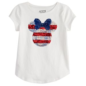 Disney's Minnie Mouse Girls 4-12 Sequin Graphic Tee by Jumping Beans®