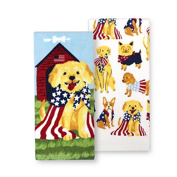 Celebrate Americana Together Dog Kitchen Towel 2 Pk