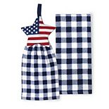 Celebrate Americana Together Tie-Top Star Kitchen Towel 2-pk.