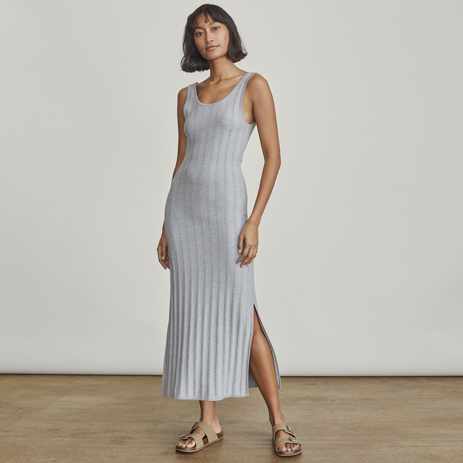 Women's Elizabeth and James Ribbed Maxi Sweater Dress