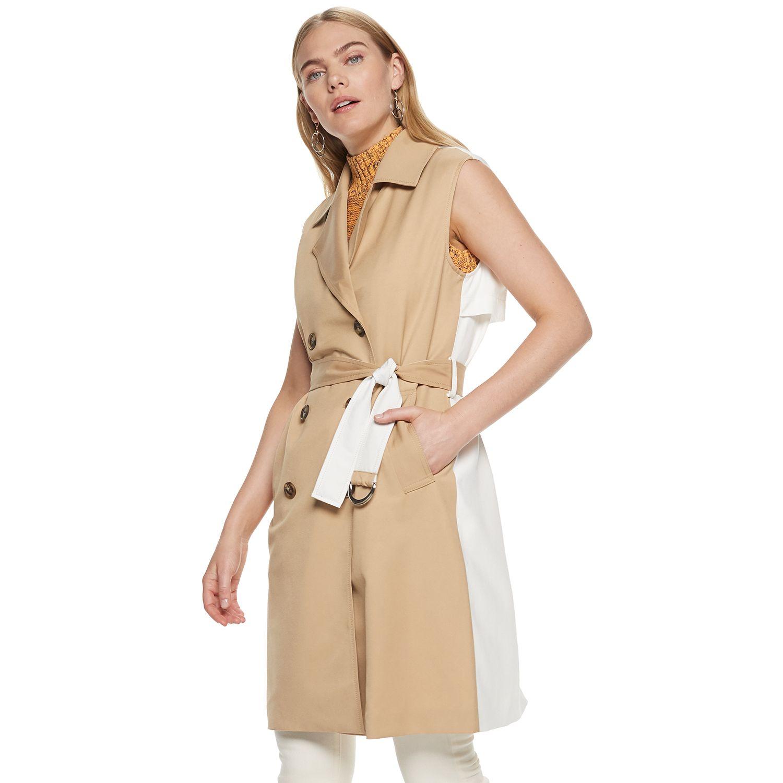 Women's Nine West Colorblock Trench Vest