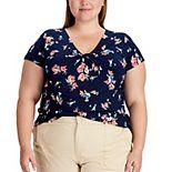 Plus Size Chaps V-Neck Top