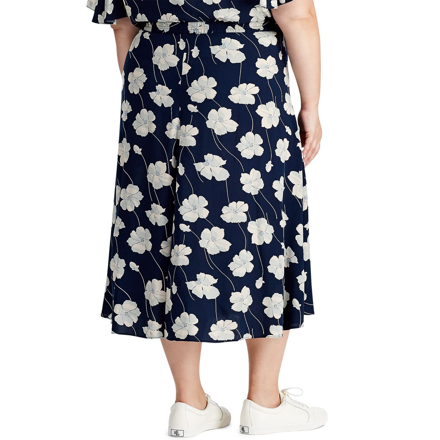 Plus Size Chaps Printed Skirt