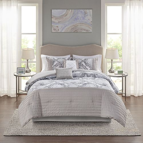 Madison Park Adrian 6-Piece Comforter Set with Shams