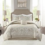 Madison Park Collette 6-Piece Comforter Set with Coordinating Pillows