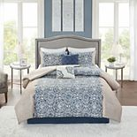 Madison Park Jess 6-Piece Comforter Set with Coordinating Pillows