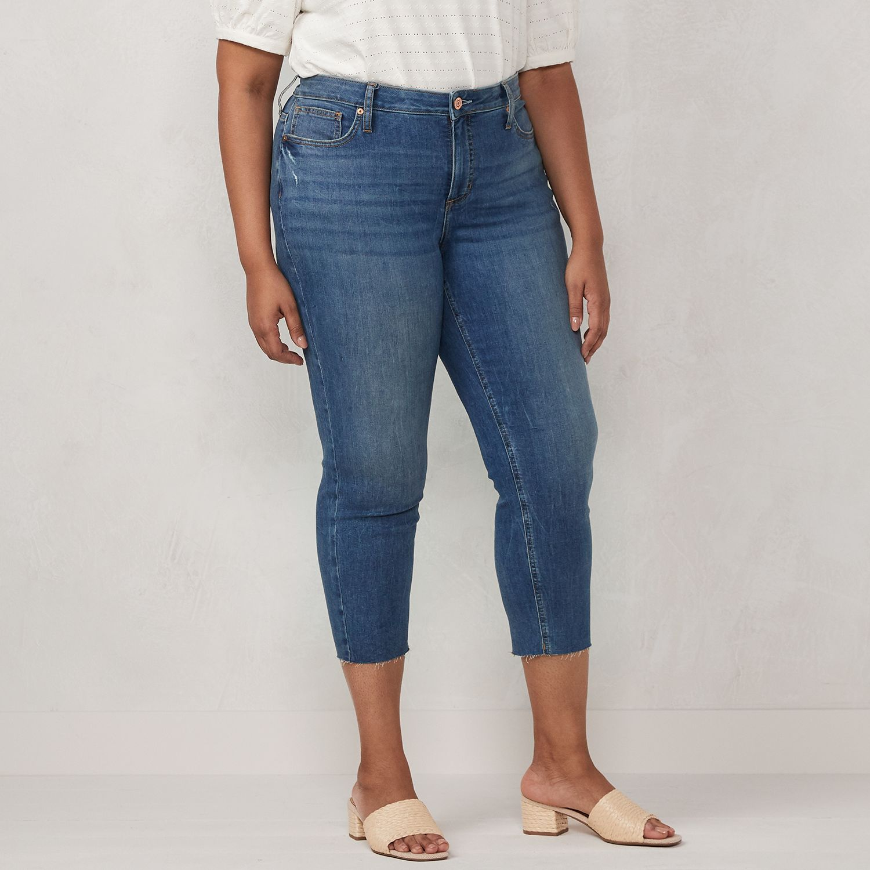 Plus Size LC Lauren Conrad Skinny Crop Jeans