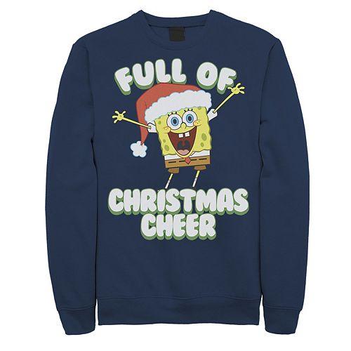 Men's Spongebob Squarepants Full Of Christmas Cheer Holiday Sweatshirt