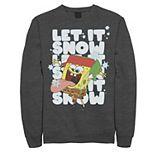 Men's Nickelodeon Spongebob Squarepants Let It Snow Let It Snow Let It Snow Graphic Fleece Pullover