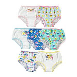 Toddler Girl 7 Pack Baby Shark Briefs