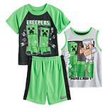 Boys 6-12 Minecraft Fire Away Top & Shorts Pajama Set