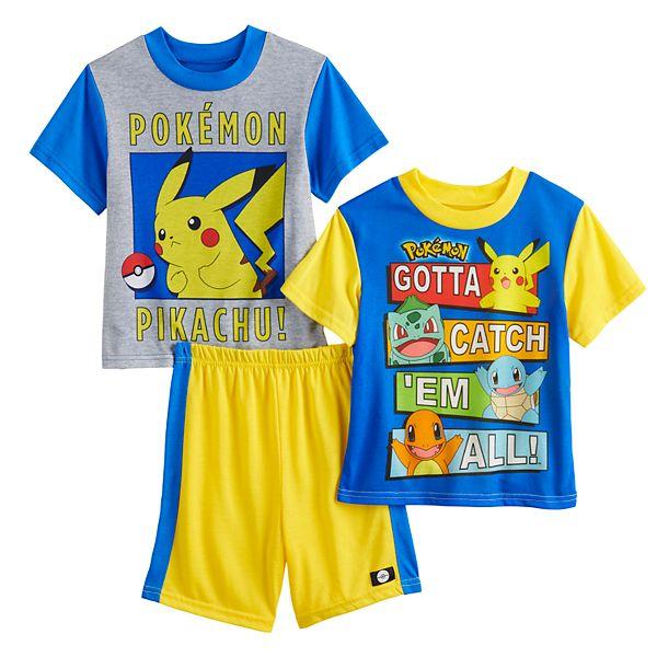 Boys 6-12 Pokemon Pikachu Catch 'Em Tops & Shorts Pajama Set
