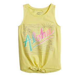 Girls 4-12 Jumping Beans® Graphic Tie-Front Tank