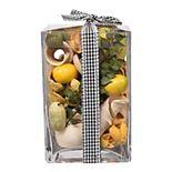 SONOMA Goods for Life® Fresh Squeezed Lemon Potpourri in Glass Vase