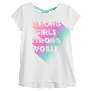 Girls 4-12 Jumping Beans® Cross-Back Tee