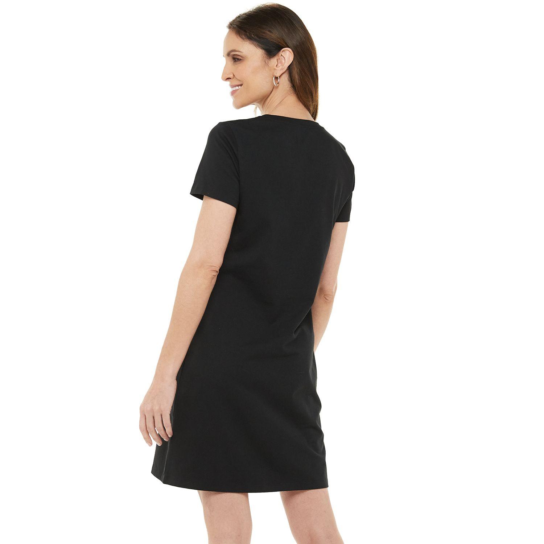 Women's Chaps Short Sleeve Logo T-Shirt Dress