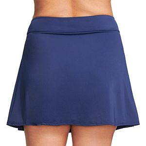 Plus Size Mazu Swim Pleated Thigh Minimizer Swim Skirt