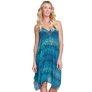 Women's Mazu Swim Printed Flowy Mesh Tank Dress Coverup
