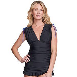 Women's Mazu Swim Ruched Tummy Control Swim Dress