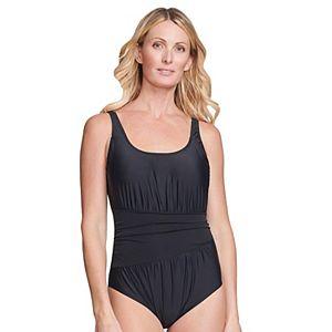 Women's Mazu Swim Ruched Wrap Effect One-Piece Swimsuit with Waist Minimizer