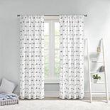 Intelligent Design Lauren Pom Pom Embellished Window Curtain