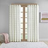 Intelligent Design Ensley Cotton Jacquard Pom Pom Window Curtain