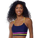 Mix & Match Striped Hem Midkini Swim Top
