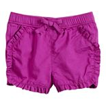 Baby Girl Jumping Beans® Ruffle Front Shorts