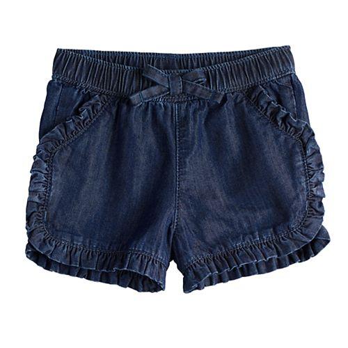 Baby Girl Jumping Beans® Ruffle Front Shorts