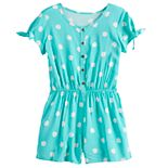 Girls 7-16 SO® Button Front Romper