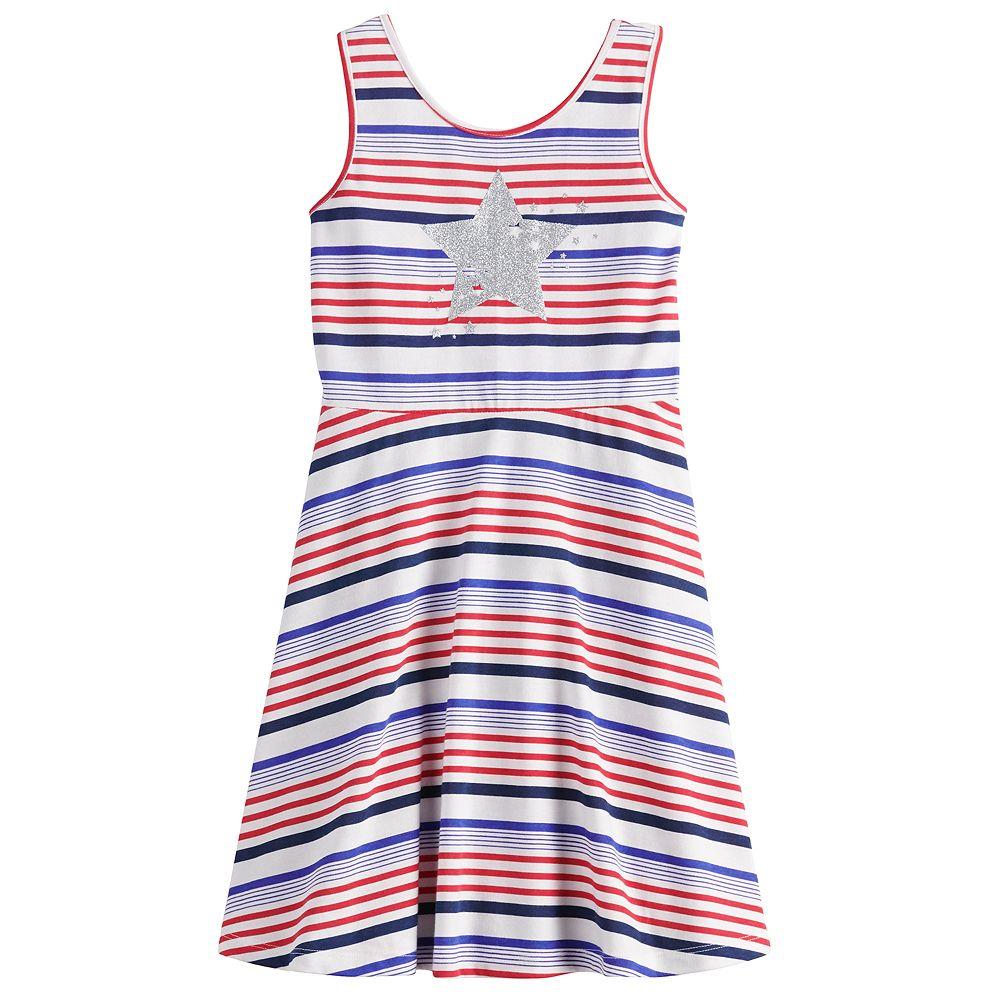 Girls 4-12 Jumping Beans® Star & Striped Skater Dress