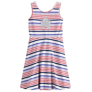 Girls 4-12 Jumping Beans® Star & Striped Skater Dress