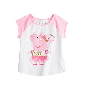 """Toddler Girl Jumping Beans® Peppa Pig """"Love"""" Graphic Tee"""