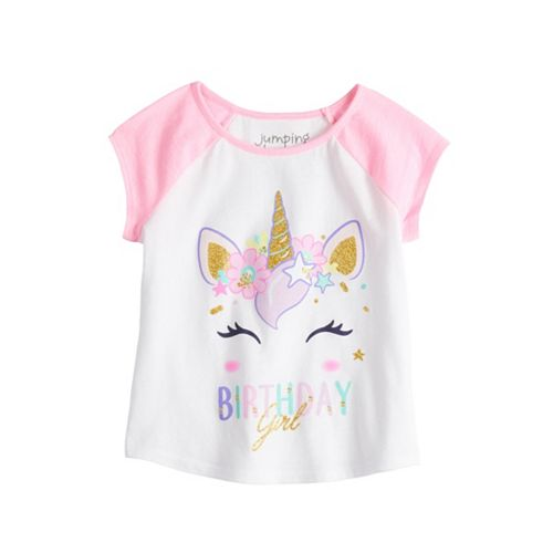 "Toddler Girl Jumping Beans® Unicorn ""Birthday Girl"" Graphic Tee"