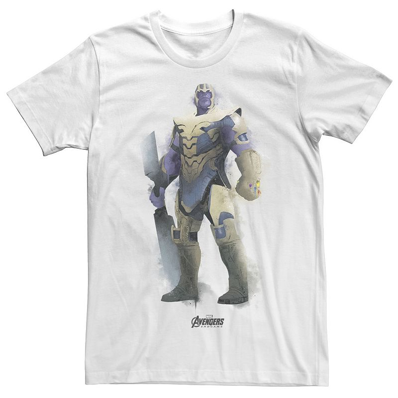 Maryland Terrapins He\\\'ll love the style and comfort of this Men\\\'s Marvel Avengers Endgame Thanos Spray Paint Graphic Tee. Crewneck Short sleeves FABRIC & CARE Cotton Machine wash Imported Color: White. Gender: male. Age Group: adult.