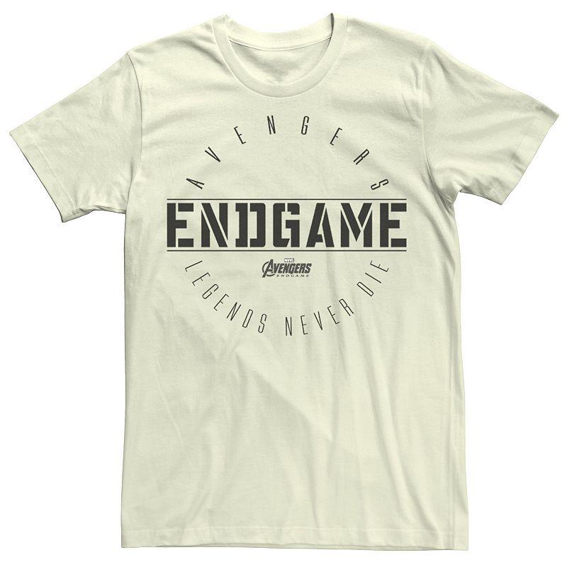 Men's Marvel Avengers Endgame Circle Logo Graphic Tee, Size: 3XL, Natural