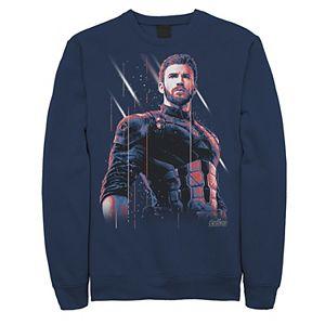 Men's Marvel Avengers: Infinity War Captain America Pose Sweatshirt