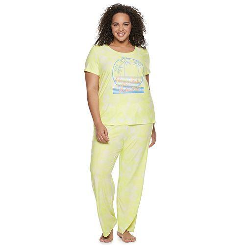 Plus Size SO® Pajama Tee & Pajama Pants Set
