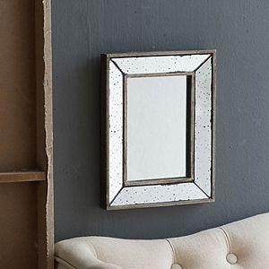 Distressed Mirror Decorative Tray Table Decor