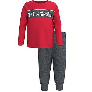 Baby Boy Under Armour Set the Bar Wordmark Top & Bottoms Set