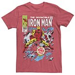 Men's Marvel Avengers Iron Man Big Premier Issue Classic Comic Graphic Tee