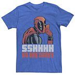 Men's Marvel Deadpool SSHHHH No One Cares Whisper Tee